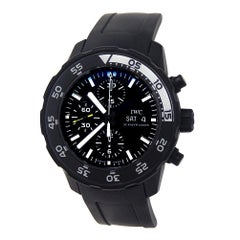 IWC Aquatimer IW376705, Black Dial, Certified and Warranty
