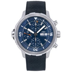 IWC Aquatimer IW376805 Chronograph Limited Edition Expedition Blue Dial Watch