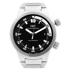 IWC Aquatimer Stainless Steel Black Dial Automatic Men's Watch IW354805
