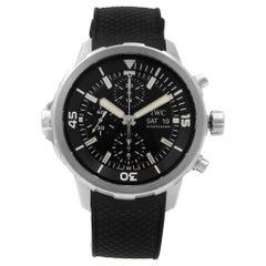 IWC Aquatimer Steel Chrono Black Dial Day Date Automatic Men's Watch IW376803