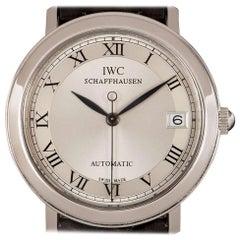 IWC Automatic Gents Platinum Silver Roman Dial Wristwatch