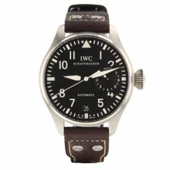 IWC Big Pilot Steel Black New Strap Automatic Watch IW500901 Mint