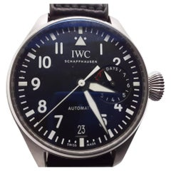 IWC Big Pilot Steel Automatic Black Automatic Leather Watch IW501001