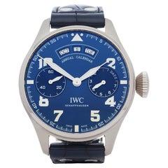 IWC Big Pilot's Annual Calendar IW502703 Men White Gold Le Petit Prince' Watch