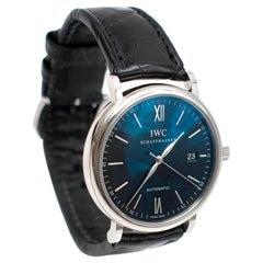 IWC Black Portofino 40mm Mens Watch