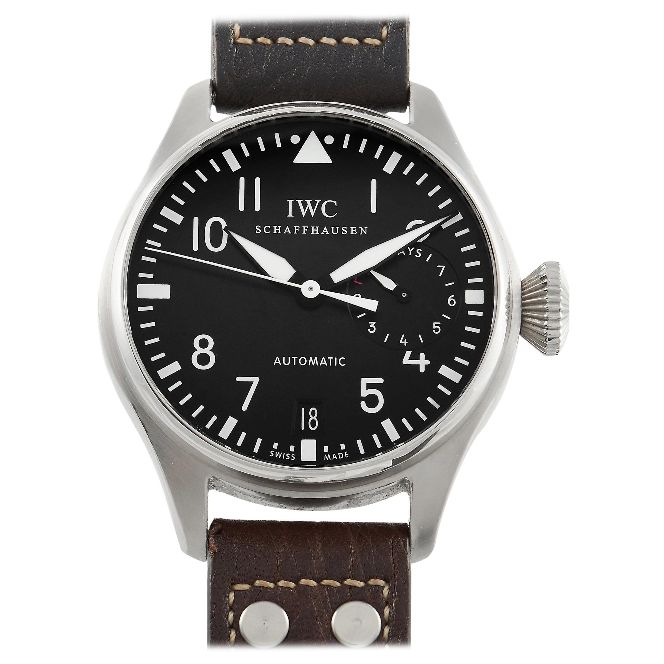 IWC Classic Big Pilot Black Dial Stainless Steel Watch IW500401