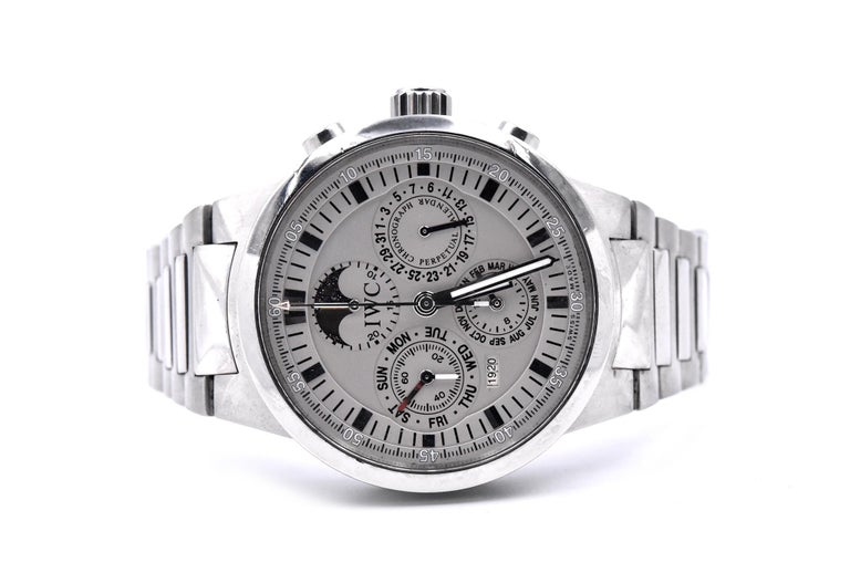 IWC GST Perpetual Calendar Watch Ref. IW3756 In Excellent Condition For Sale In Scottsdale, AZ