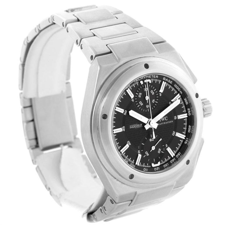 separation shoes e7a78 fd4e3 IWC Ingenieur Automatic Chronograph Black Dial Men's Watch IW372501