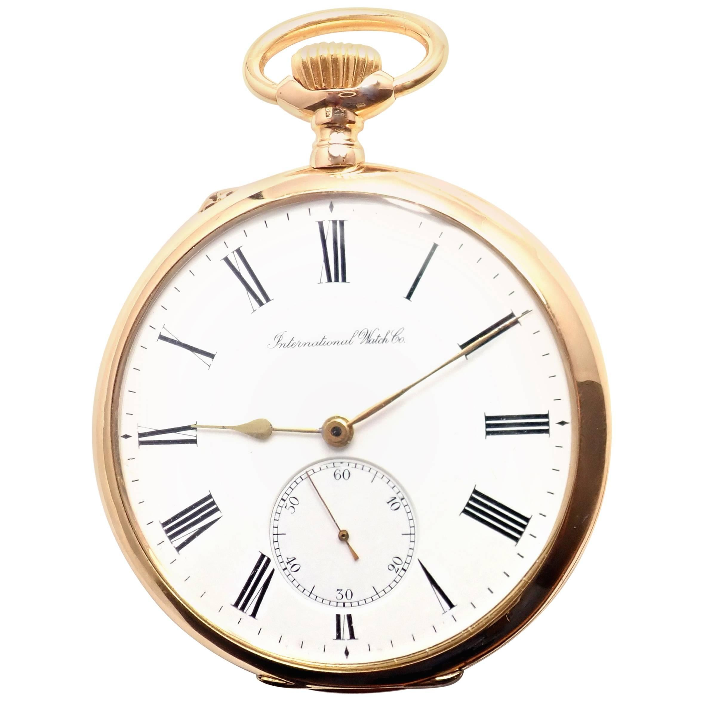 bcd03bad8 IWC International Watch Co. Yellow Gold Pocket Watch For Sale at 1stdibs