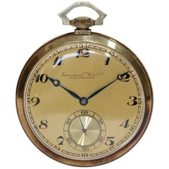 IWC International Watch Company Yellow Gold Art Deco Pocket Watch