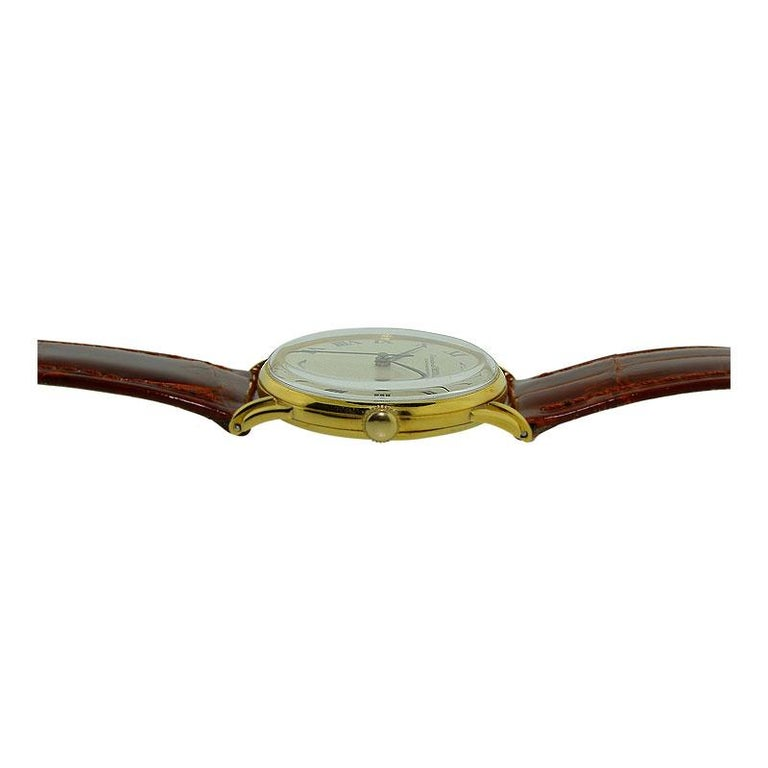 IWC International Watch Company Yellow Gold Manual Watch, circa 1950s For Sale 2