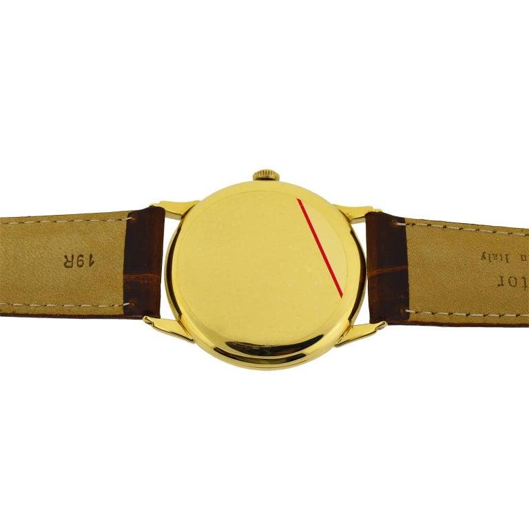 IWC International Watch Company Yellow Gold Manual Watch, circa 1950s For Sale 3