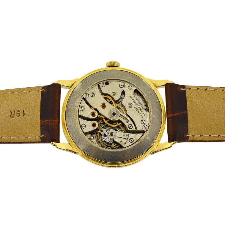 IWC International Watch Company Yellow Gold Manual Watch, circa 1950s For Sale 4