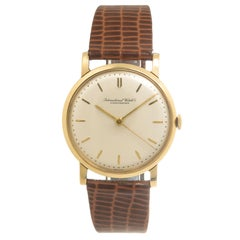 IWC International Watch Schaffhausen Yellow Gold Manual Wind Wristwatch