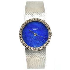 IWC Ladies White Gold Diamond Blue Lapis Dial Dress Wristwatch