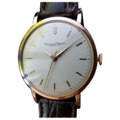 IWC Men's 18 Karat Gold Manual Hand-Wind Dress Watch circa 1950s Swiss LV338