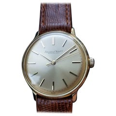 IWC Men's 18K Solid Gold cal.C402 Manual Hand-Wind Dress Watch, c.1960s LV413