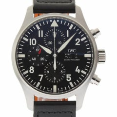 IWC New Pilot Black Chronograph Automatic IW377709 Box/Papers/2 Year Warranty