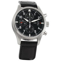 IWC Pilot IW377701, Black Dial, Certified and Warranty