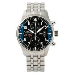 IWC Pilot IW377704 Men's Automatic Stainless Chronograph Watch Box and Papers