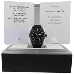 IWC Pilot IW502001, Black Dial, Certified and Warranty