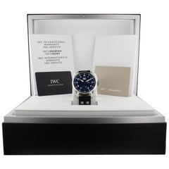 IWC Pilot IW510503, Blue Dial, Certified and Warranty