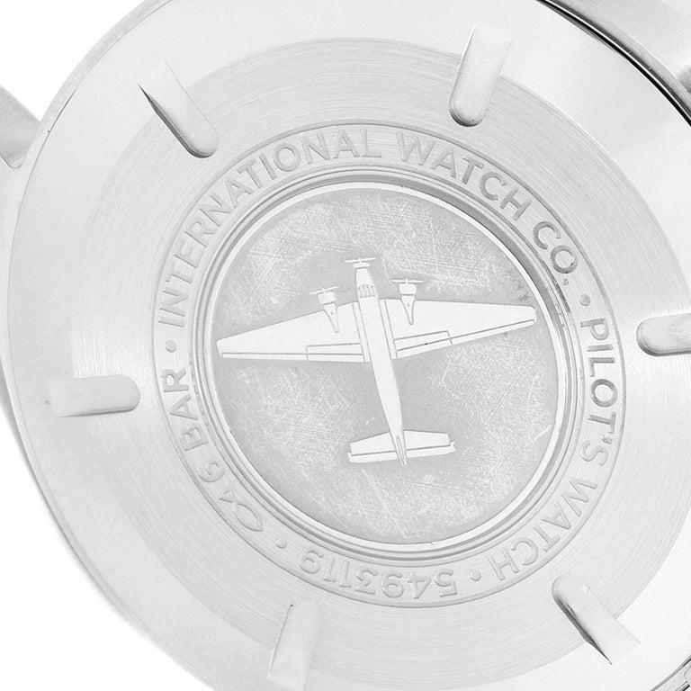 IWC Pilot Mark XVIII Black Dial Steel Men's Watch IW327011 Card For Sale 3