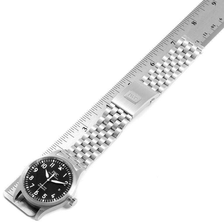 IWC Pilot Mark XVIII Black Dial Steel Men's Watch IW327011 Card For Sale 4