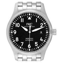 IWC Pilot Mark XVIII Black Dial Steel Men's Watch IW327011 Card