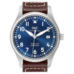 IWC Pilot Mark XVIII Petit Prince Blue Dial Men's Watch IW327004 Unworn