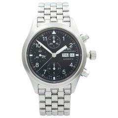 IWC Pilot Steel Day Date Arabic Black Dial Automatic Men's Watch IW370607