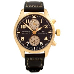 IWC Pilots Limited 18K Rose Gold Leather Brown Dial Automatic Watch IW387805