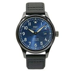 IWC Pilots Mark XVIII Black Ceramic Blue Arabic Dial Automatic Watch IW324703