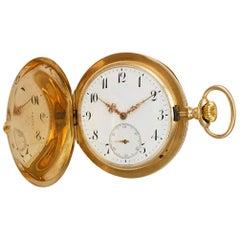 IWC Pocket Watch 568502 14 Karat White Dial Manual Watch