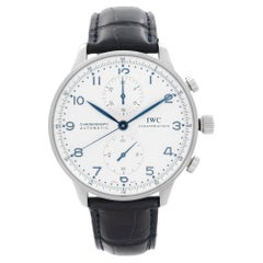 IWC Portugieser Steel Chronograph Silver Dial Automatic Men Watch IW371605