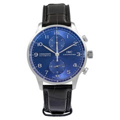 IWC Portugieser Classic Steel Blue Dial Automatic Men's Watch IW371491
