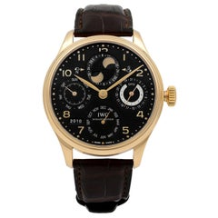 IWC Portugieser Perpetual Calendar 18K Rose Gold Automatic Men's Watch IW503202