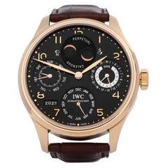 IWC Portuguese 0 IW502103 Men's Rose Gold Perpetual Calendar Watch
