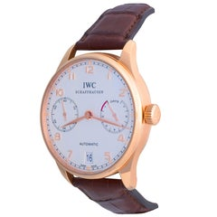 IWC Rose Gold Portuguese Automatic Wristwatch Ref IW500113