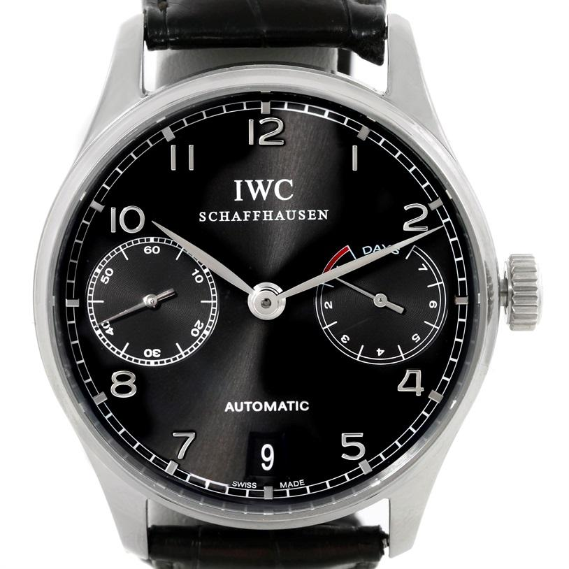 IWC Portuguese Chrono 7 Day Power Reserve Automatic Watch IW500109