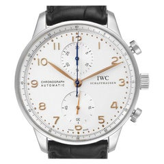 IWC Portuguese Chrono Automatic Steel Men's Watch IW371445 Box Papers