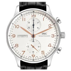 IWC Portuguese Chronograph Steel Men's Watch IW371401 Box Card