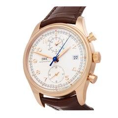 IWC Portuguese Classic Chronograph 18 Karat Rose Gold IW390402