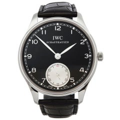 IWC Portuguese Hand-Wound Stainless Steel IW545404 Wristwatch