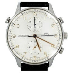 IWC Portuguese IW3712-02 Men's Split Second Manual Watch SS Chronograph