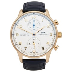 IWC Portuguese IW3714 Men's Rose Gold Chronograph Watch