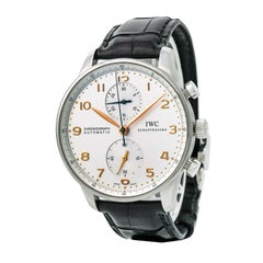 Iwc Portuguese Iw371445 Mens Automatic Watch Deployment Buckle Chronograph 40Mm