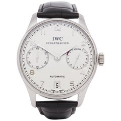 IWC Portuguese IW500104 Men's Platinum 7 Day, Limited Edition of 500 Pieces Wat