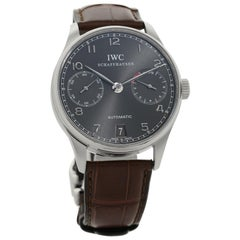 IWC Portuguese IW500106, Grey Dial, Certified and Warranty
