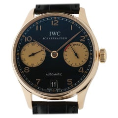 IWC Portuguese IW500121, Black Dial, Certified and Warranty